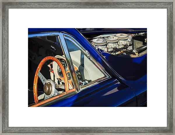 1960 Ac Aceca-bristol Steering Wheel - Engine Framed Print