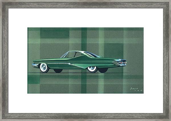 1960 Desoto  Vintage Styling Design Concept Rendering Sketch Framed Print by John Samsen