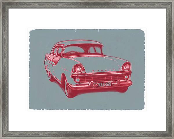 1960 Fb Holden Car Art Sketch Poster Framed Print