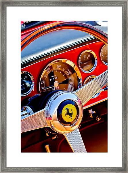 1960 Ferrari 250 Gt Cabriolet Pininfarina Series II Steering Wheel Emblem -1319c Framed Print