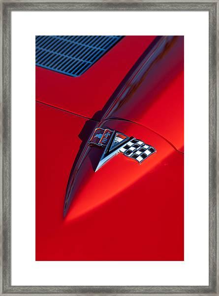 1963 Chevrolet Corvette Hood Emblem Framed Print