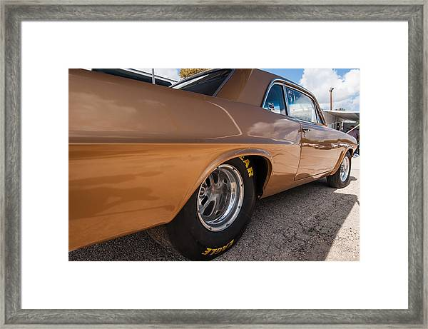 1963 Pontiac Lemans Race Car Framed Print