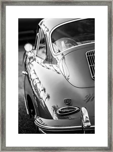 1963 Porsche 356b S Coupe Taillight -1241bw Framed Print