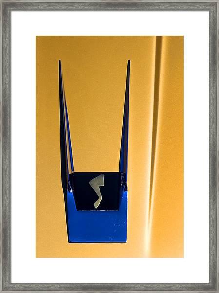 1963 Studebaker Avanti Emblem Framed Print