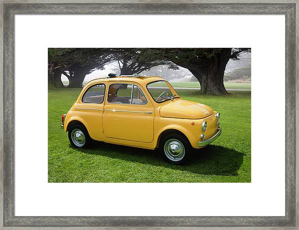 1964 Fiat 500d Framed Print by Car Culture