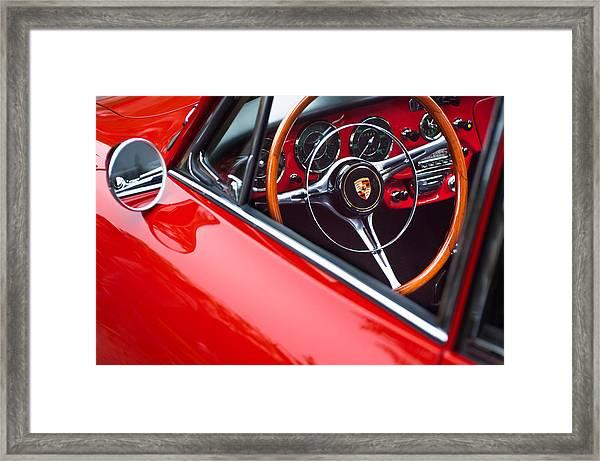 1964 Porsche 356 Carrera 2 Steering Wheel Framed Print