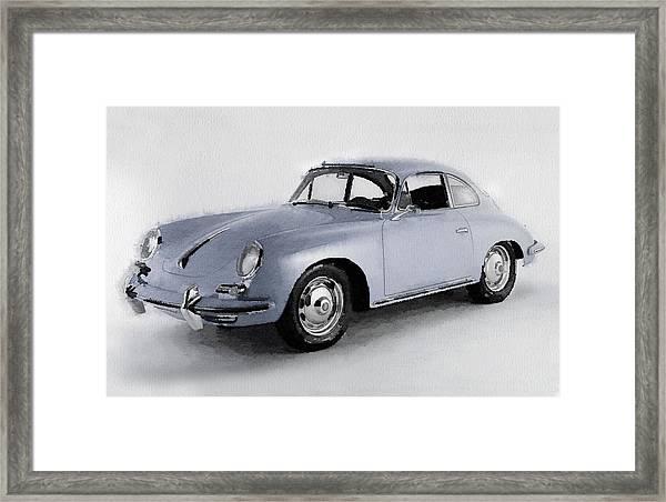 1964 Porsche 356b Watercolor Framed Print