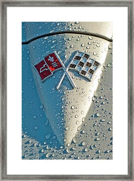 1966 Chevrolet Corvette Sting Ray Hood Emblem Framed Print