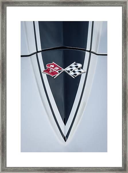 1967 Chevrolet Corvette Coupe Hood Emblem Framed Print