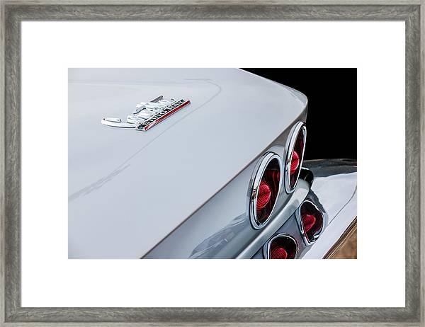 1967 Chevrolet Corvette Coupe Taillight Emblem Framed Print