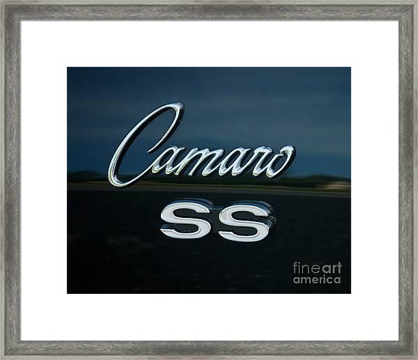 1968 Chevy Camaro Ss Logo Framed Print
