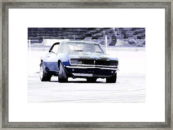 1968 Chevy Camaro Watercolor Framed Print