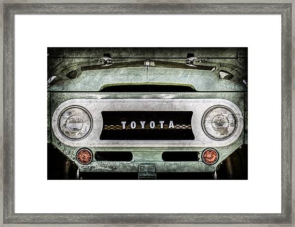 1969 Toyota Fj-40 Land Cruiser Grille Emblem -0444ac Framed Print
