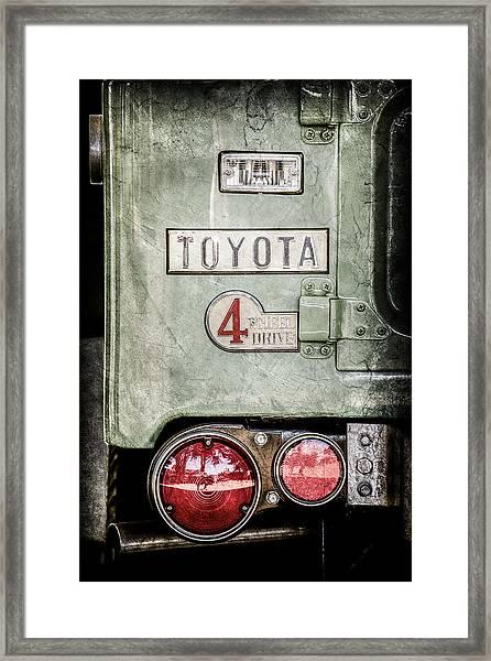 1969 Toyota Fj-40 Land Cruiser Taillight Emblem -0417ac Framed Print