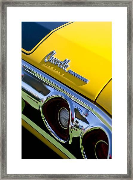 1972 Chevrolet Chevelle Taillight Emblem Framed Print