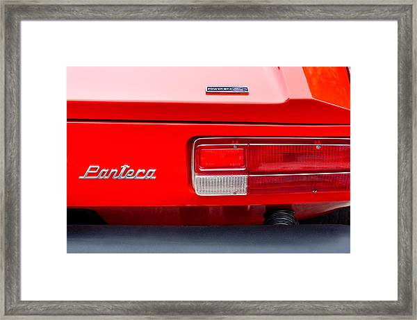 1972 De Tomaso Pantera Taillight Emblem Framed Print