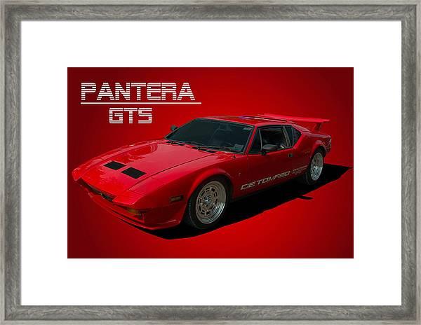 1973 Detomaso Pantera Gts Framed Print