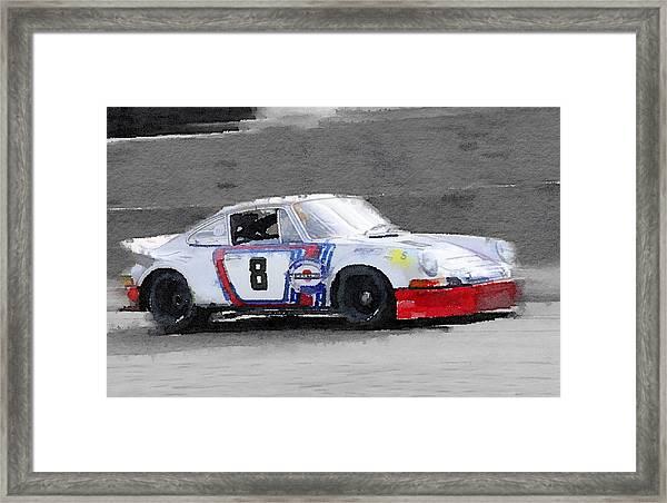 1973 Porsche 911 Watercolor Framed Print