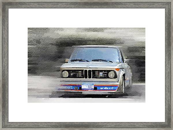 1974 Bmw 2002 Turbo Watercolor Framed Print
