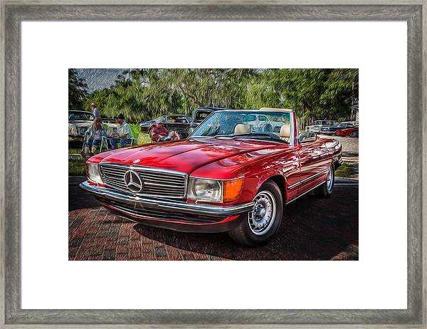 1984 Mercedes 500 Sl Painted  Framed Print