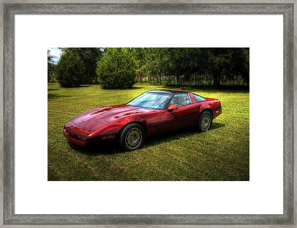 1986 Corvette Framed Print