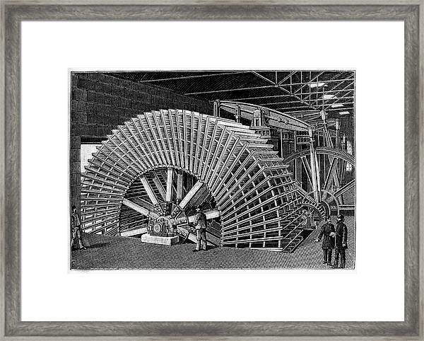 19th C Egyptian Hydraulic Factory Framed Print by Collection Abecasis/science Photo Library