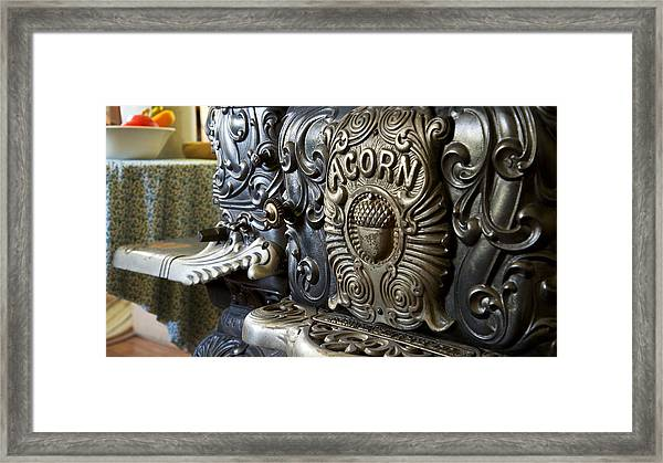 19th Century Acorn Cast Iron Stove White Pine Village Ludington Michigan Framed Print