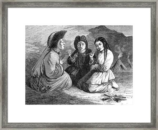 19th Century Khalkha Women Framed Print