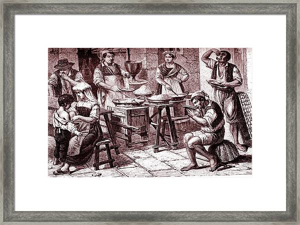 19th Century Pasta Merchant Framed Print