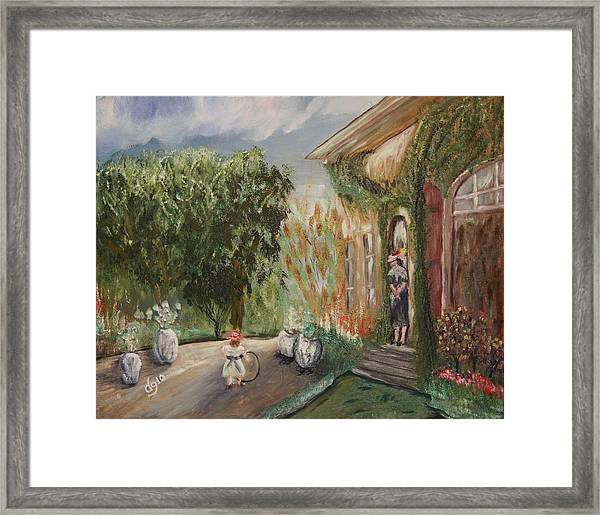 1st Camille And Jean Monet  Framed Print