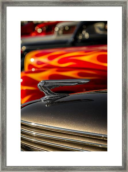 1939 Graham Coupe Hood Ornament Framed Print