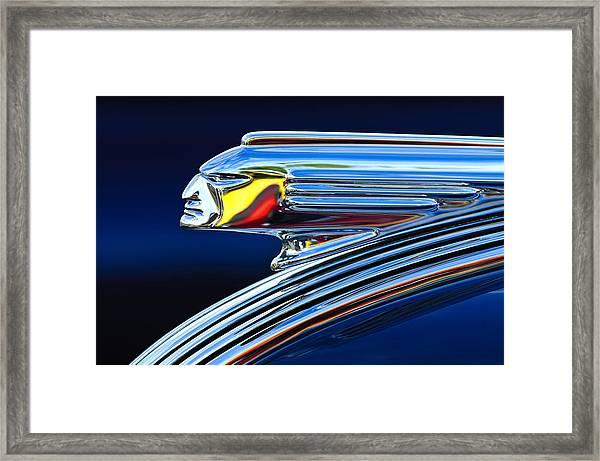 1939 Pontiac Silver Streak Chief Hood Ornament Framed Print