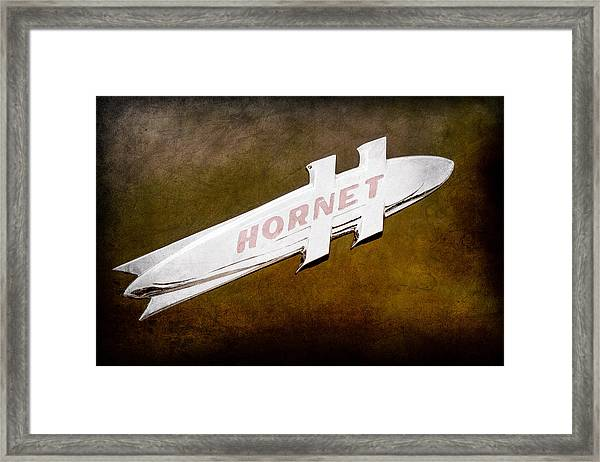 1951 Hudson Hornet Emblem Framed Print