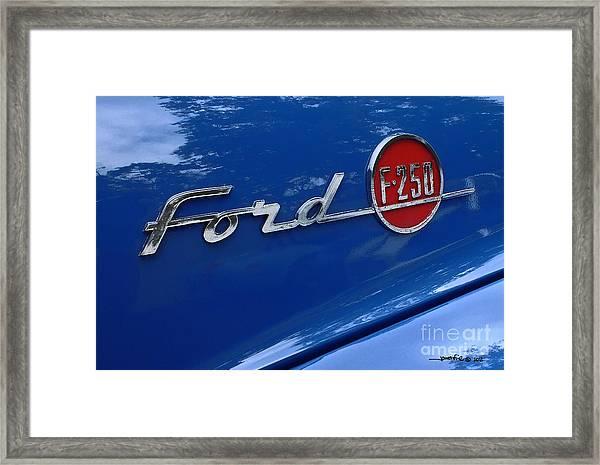 1954 Ford F250 Insignia. Framed Print