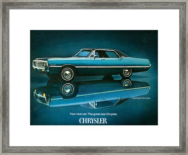 1960s Usa Chrysler Magazine Advert Framed Print