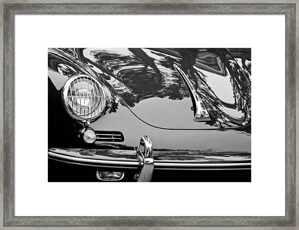 1963 Porsche 356 B Cabriolet Hood Emblem Framed Print