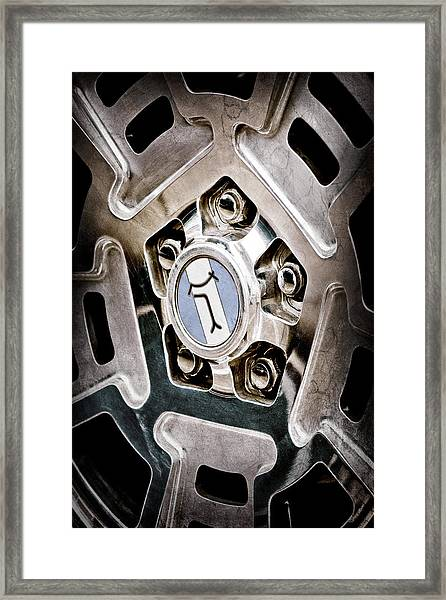 1972 Detomaso Pantera Wheel Emblem Framed Print