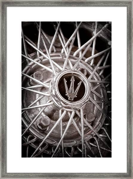 1972 Maserati Ghibli 4.9 Ss Spyder Wheel Emblem Framed Print