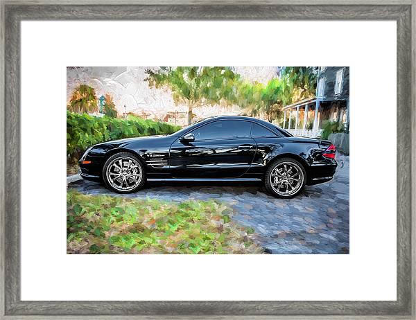 2006 Mercedes Benz Sl55 V8 Kompressor Coupe Painted  Framed Print