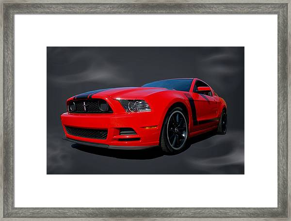 2013 Mustang Boss 302 Framed Print