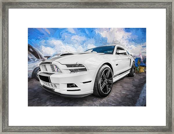 2014 Ford Mustang Gt Cs Painted  Framed Print