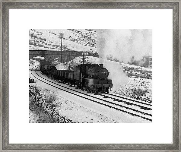 45593 Kholapur Hauling Winter Freight Framed Print
