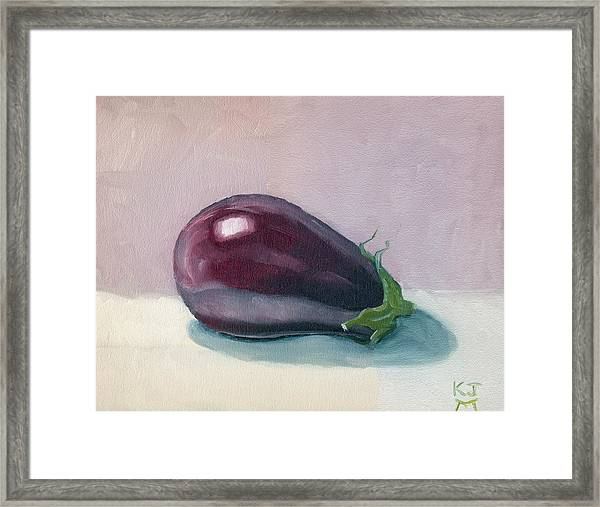 A Is For Aubergine Framed Print