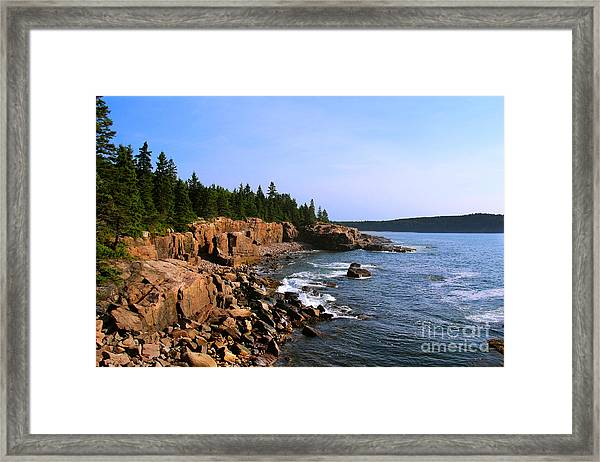 Acadia Coast Framed Print
