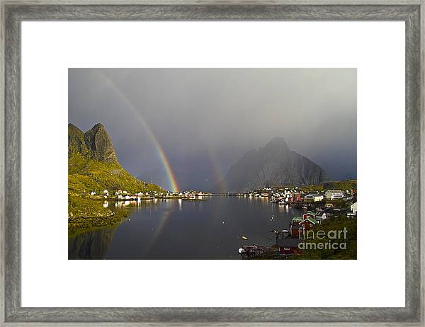 After The Rain In Reine Framed Print
