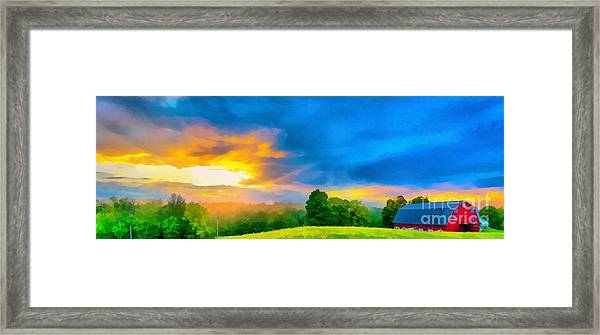 After The Storm Passes Framed Print