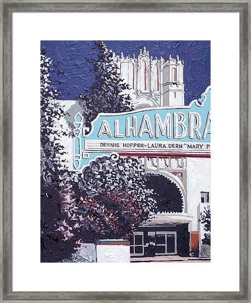 Alhambra Theatre Framed Print by Paul Guyer
