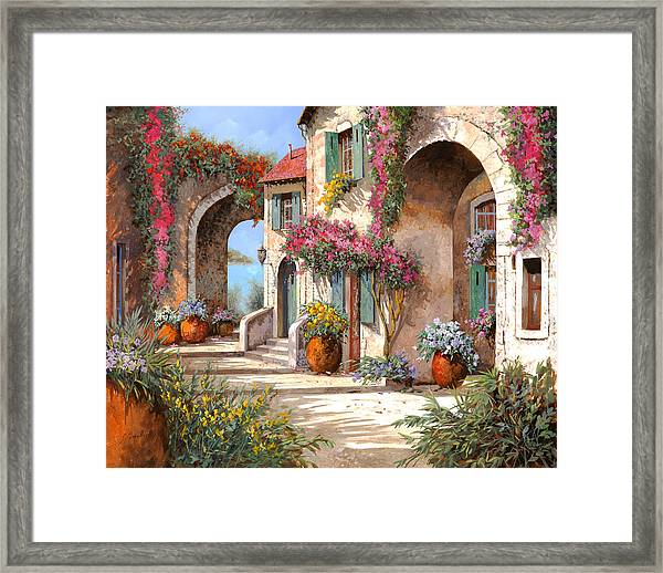 Archi E Fiori Framed Print