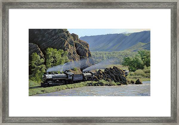 At Point Of Rocks-bound For Yellowstone Framed Print