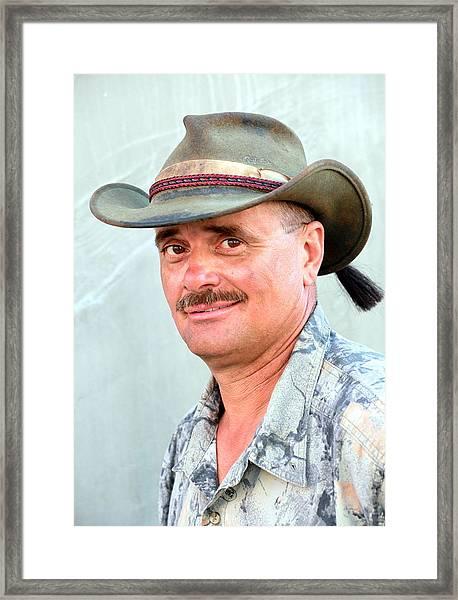 Aussie Male. Framed Print by Oscar Williams
